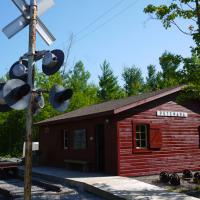 photo of replica railway station - south side