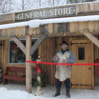 photo of project foreman Bill Osmond at opening of Petawawa Heritage Village general store