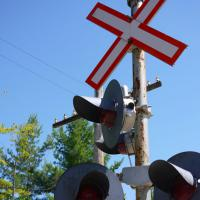photo of railway crossing signals